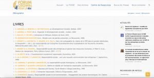 Capture d'écran - site internet du FCRSE
